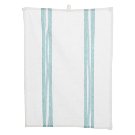 Duck Egg Blue and White Tea Towel