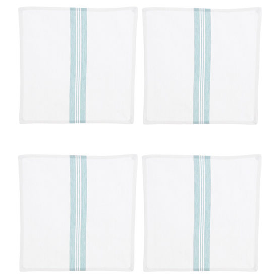 Duck Egg Blue & White Napkins Set of 4