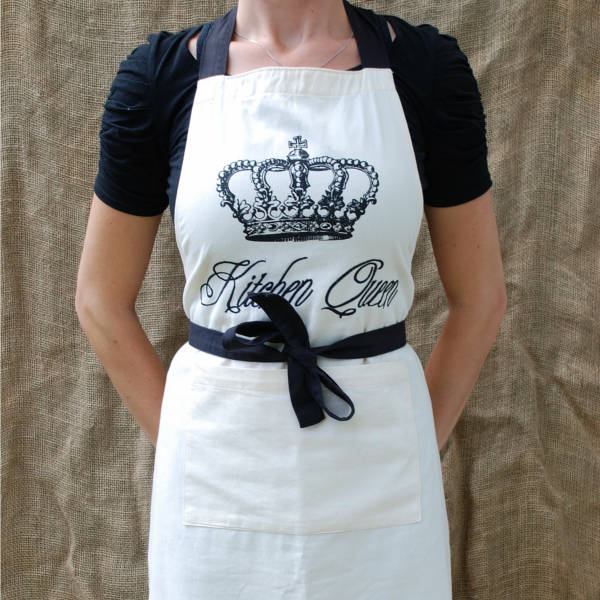 Kitchen Queen Apron Dishy Designs 100 Cotton Textiles