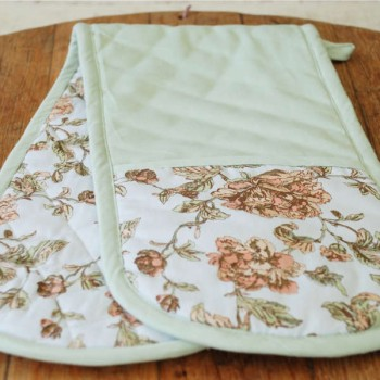 Double Oven Gloves Pretty Floral