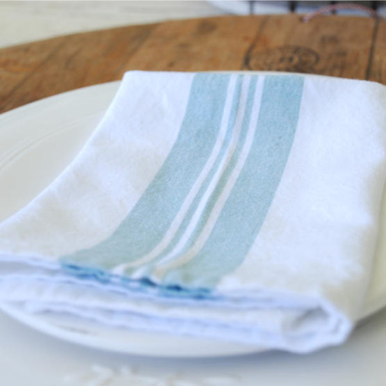 Duck Egg Blue and White napkins