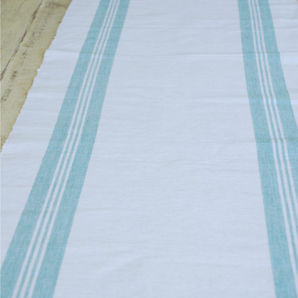 Duck Egg Blue And White Table Runner Dishy Designs