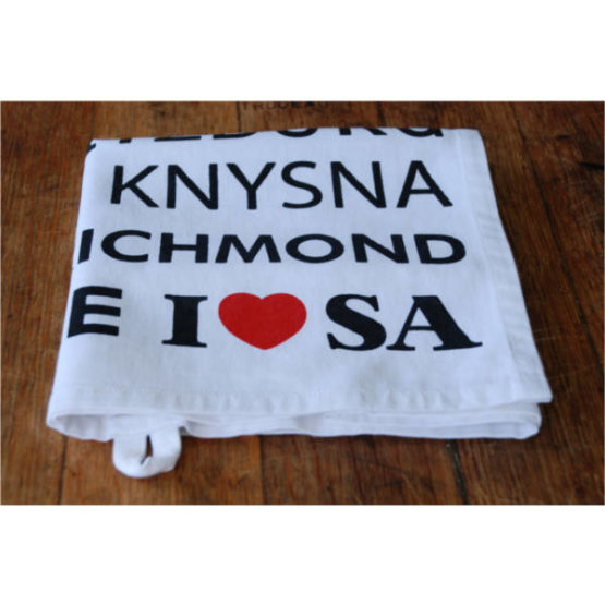 I Love SA Tea Towel